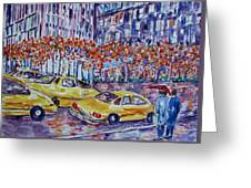 Cabs New York Greeting Card
