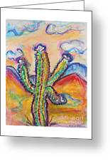 Cactus And Clouds Greeting Card