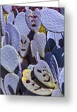 Cactus Faces Greeting Card