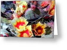 Cactus Flowers Bright And Prickly Greeting Card
