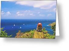 Cactus Overlooking Ocean Greeting Card