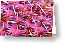 Cactus Pattern 2 Pink Greeting Card by Amy Vangsgard