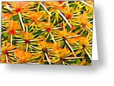 Cactus Pattern 2 Yellow Greeting Card