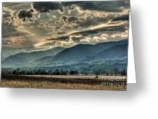 Cades Cove Hdr Spring 2014 Greeting Card