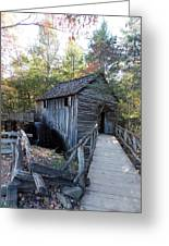 Cade's Cove Mill In The Fall Greeting Card