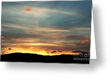 Cades Cove Sunset Greeting Card