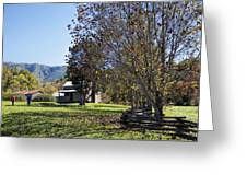 Cades Cove Tennessee Fall Scene Greeting Card