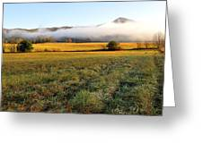 Cades Cove Valley Greeting Card