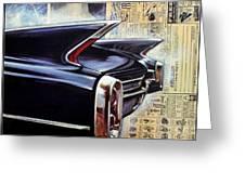 Cadillac Attack Greeting Card