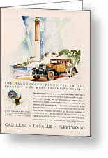Cadillac La Salle 1929 1920s Usa Cc Greeting Card by The Advertising Archives