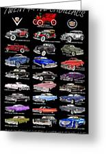 Never Enough Cadillacs  Greeting Card