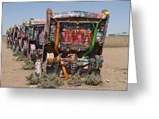 Cadillac Ranch Along Route 66 Greeting Card