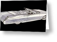 1963 64 Cadillac Roadster Concept Greeting Card