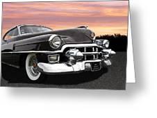 Cadillac Sunset Greeting Card