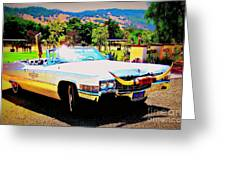Cadillac Supreme Greeting Card by Jodie  Scheller