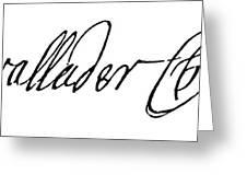 Cadwallader Colden (1688-1776) Greeting Card