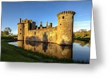 Caerlaverock Castle - 3 Greeting Card