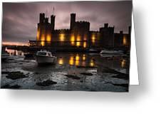 Caernarfon Castle Wales Greeting Card
