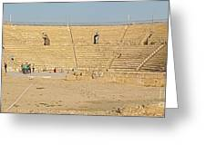 Caesarea Israel Ancient Colosseum Greeting Card