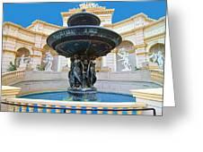 Caesars Fountain Greeting Card