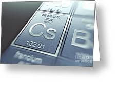 Caesium Chemical Element Greeting Card