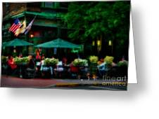 Cafe Alfresco Greeting Card