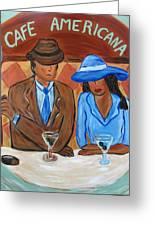 Cafe Americana Greeting Card