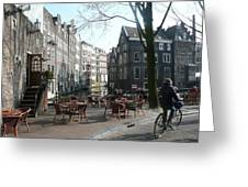 Cafe Amsterdam Greeting Card