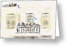 Cafe At Gorky Park Berlin Greeting Card