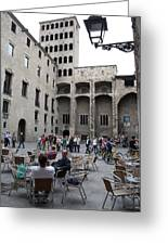 Cafe Barcelona Spain Greeting Card