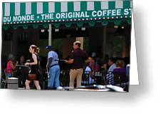 Cafe Cafe  Greeting Card by Kenneth Feliciano