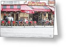 Cafe Conti Greeting Card