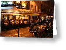 Cafe De Flore Greeting Card