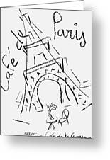 Cafe De Paris Greeting Card