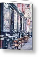 Cafe Della Pace East 7th Street New York City Greeting Card by Anthony Butera
