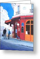 Cafe Des Musees Paris Greeting Card
