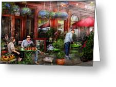 Cafe - Hoboken Nj - A Day Out  Greeting Card