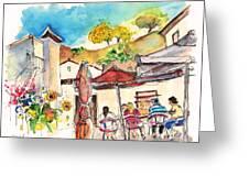 Cafe In Barca De Alva Greeting Card
