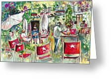 Cafe In Cazorla Greeting Card