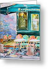Cafe In Montmartre Greeting Card