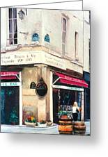 Cafe Le Barometre In Paris Greeting Card