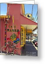 Cafe Mambo Paia Maui Hawaii Greeting Card