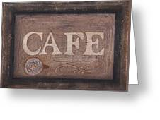 Cafe Sign Greeting Card