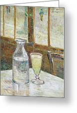 Cafe Table With Absinth Greeting Card