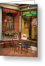 Cafe - The Best Ice Cream In Lancaster Greeting Card
