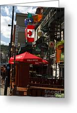 Cafes And Bars Along Crescent Street Greeting Card