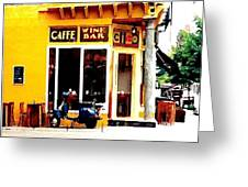 Caffe Ciao Greeting Card