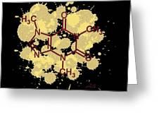 Caffeine Formula Digital Art Greeting Card