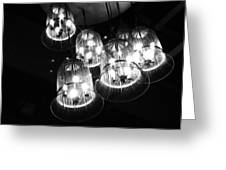 Caged Lights Greeting Card