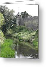 Cahir Castle Wall And River Suir Greeting Card
